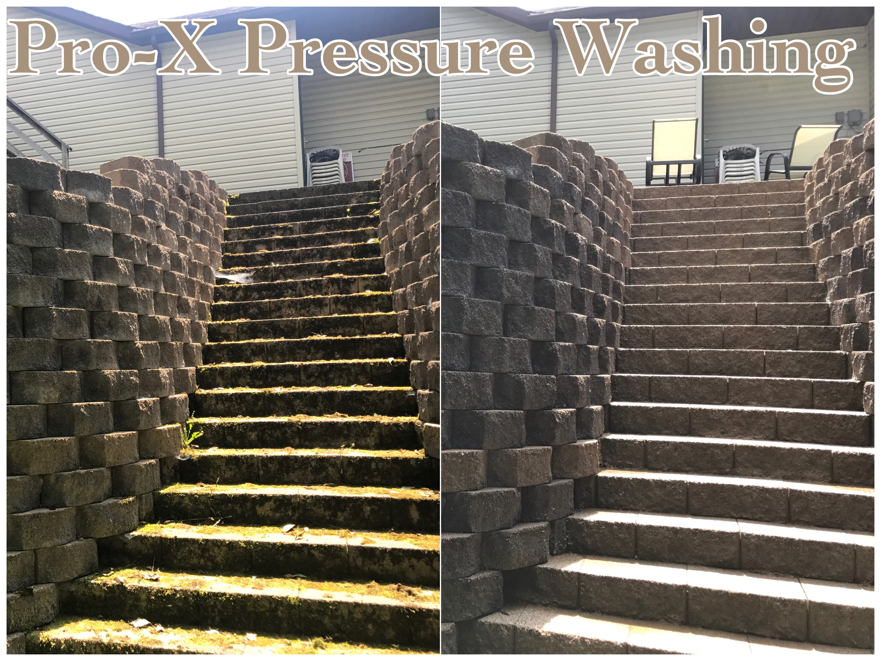 Paver, Patio & Landscape Block Cleaning - Pro-X Pressure Washing