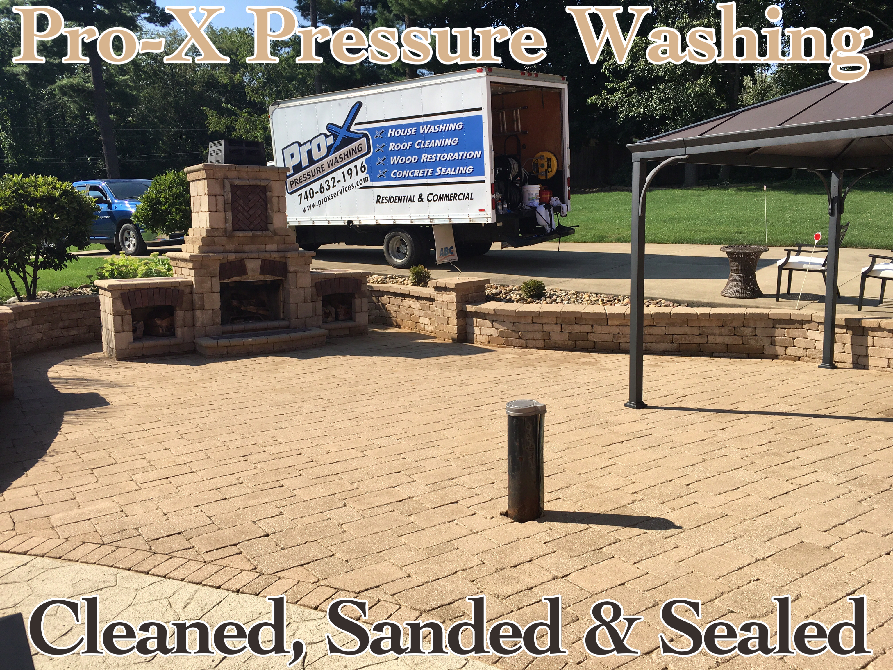 Paver Patio & Landscape Block Cleaning Pro X Pressure Washing
